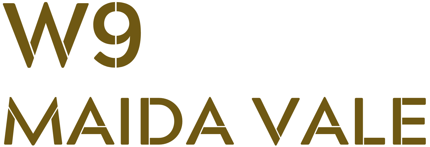 W9 Maida Vale Logo in Gold