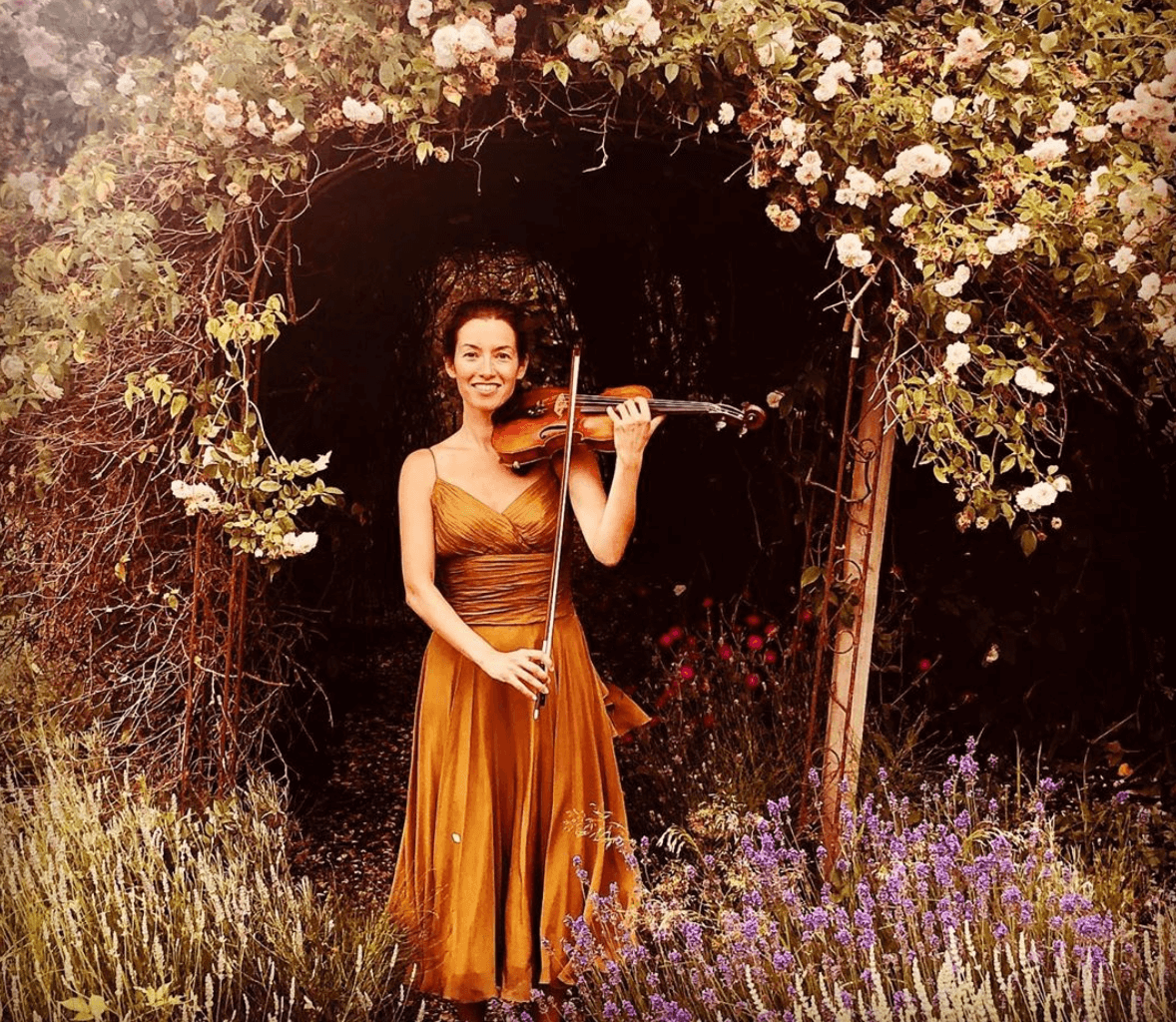 Playing Violin in Forest