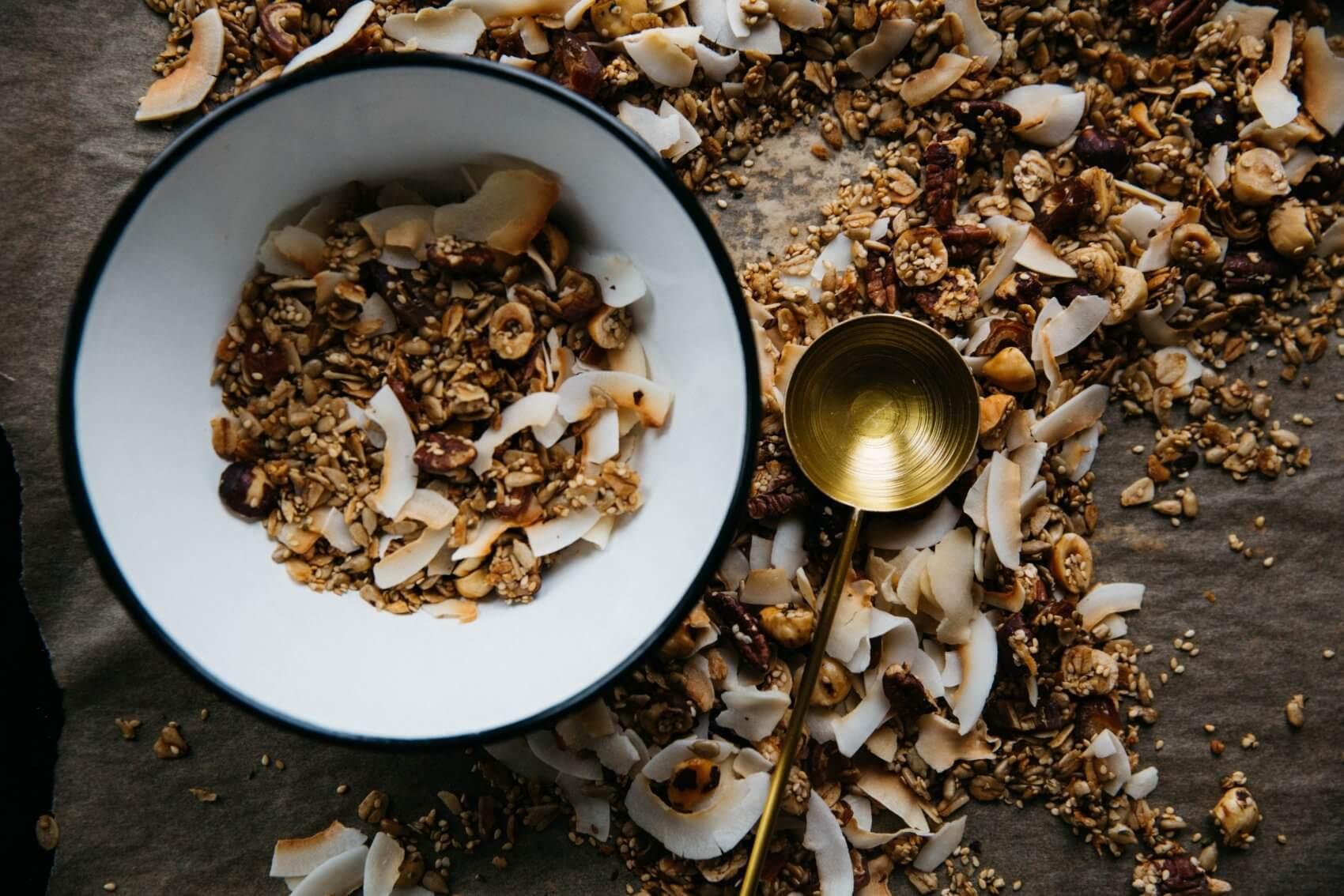 Coconut Muesli with Golden Spoon