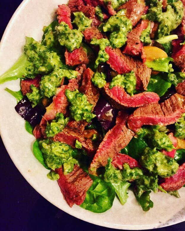 Steak Salsa Salad