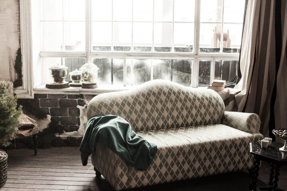 Antique Sofa in Studio